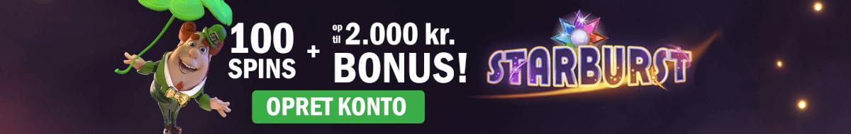 Få din bonuskode til Casinosjov her og op til 100 spins og 2000 kroner i bonus