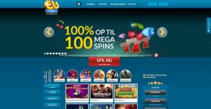 EU Casino's hjemmeside
