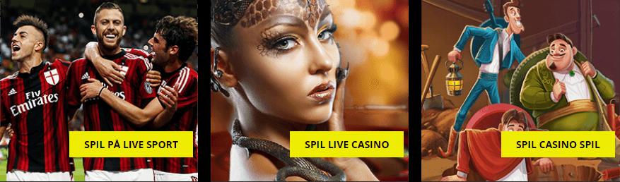 Jetbull har både live sport, casino og spillemaskiner