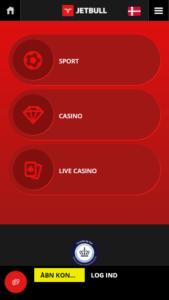 Jetbulls meget flotte mobile-hjemmeside