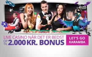 Karamba live casino bonus