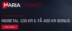 Få en kæmpe vores hos Maria Casino ved at bruge vores bonuskode