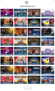 Mest populære spilleautomater hos Casinoandfriends.dk
