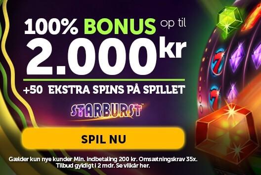 Spil Starburst og få gratis spins dertil