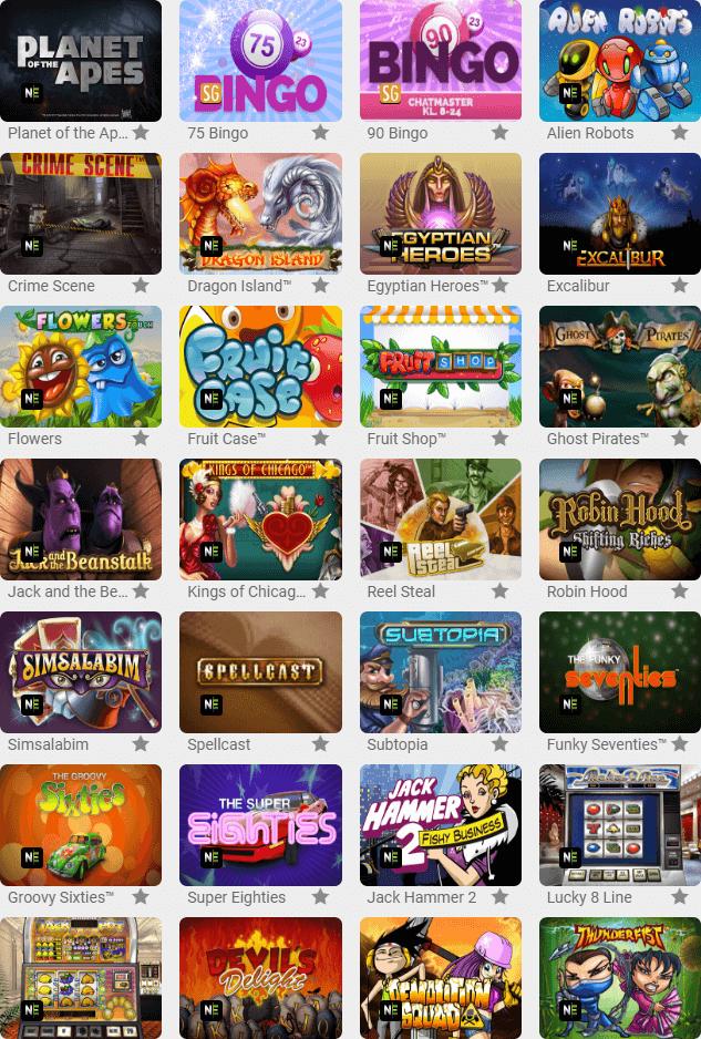 Der er også rigtig mange spillemaskiner hos bingoslottet.dk ikke kun bingo
