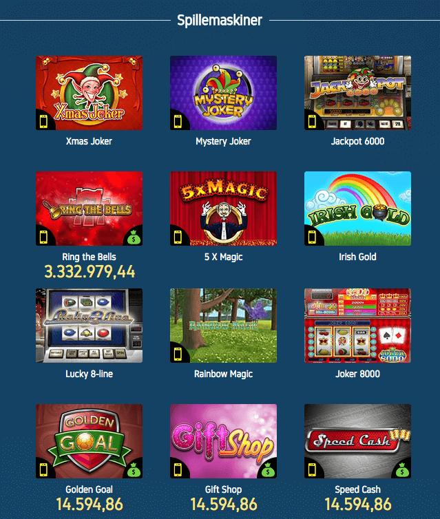 De har rigtig mange spillemaskiner hos casino.dk