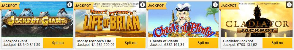 Store jackpots på casinoet hos Betfair